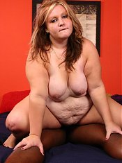 Cute BBW Dani gets cock gagged before taking it in her juicy fat pussy slit in this live clip