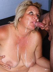 Sexy plumper Sussana rubbing her clit while a hunk pounds her chubby snatch hard