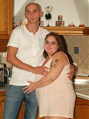 Wild BBW Agnes and her fuckbuddy get down and dirty in the kitchen and enjoy a session of nasty fucking